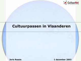Cultuurpassen in Vlaanderen