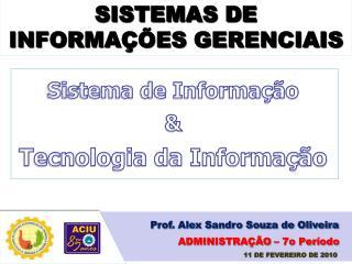 SISTEMAS DE INFORMA��ES GERENCIAIS