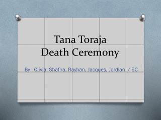 Tana Toraja Death Ceremony