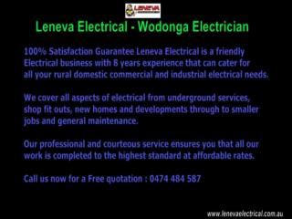 Leneva Electrical Your Local Wodonga Electrician Services