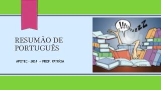 RESUMÃO DE  Português