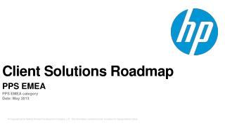 Client Solutions Roadmap
