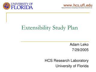 Extensibility Study Plan