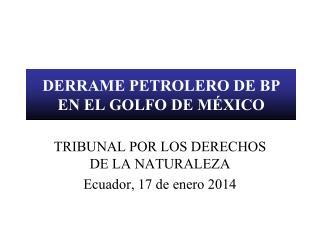 DERRAME PETROLERO DE BP EN EL GOLFO DE MÉXICO