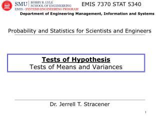 Dr. Jerrell T. Stracener