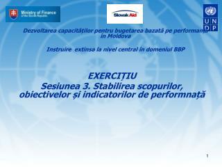 Dezvoltarea capacit??ilor pentru bugetarea bazat? pe performan? ?  �n Moldova