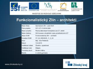 Funkcionalistický Zlín – architekti