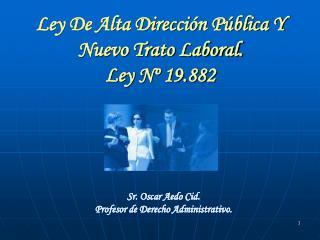 Ley De Alta Direcci n P blica Y Nuevo Trato Laboral. Ley N  19.882