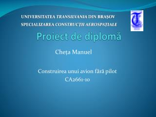 Proiect de diplomă