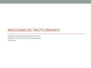 INFECCIONES DEL TRACTO URINARIO II