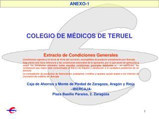 COLEGIO DE MÉDICOS DE TERUEL