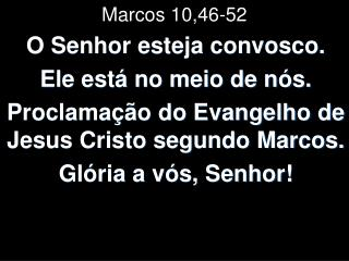 Marcos 10,46-52