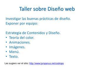 Taller sobre Diseño web