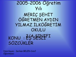 2005-2006 Öğretim Yılı