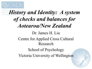 History and Identity:  A system of checks and balances for Aotearoa/New Zealand