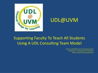 UDL@UVM