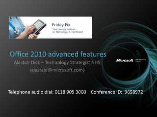 Office 2010 advanced features