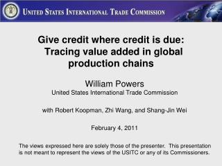Give credit where credit is due:   Tracing value added in global production chains