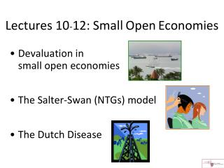 Lectures 10 - 12: Small Open Economies