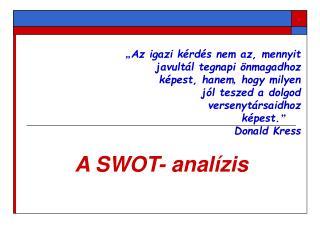 A SWOT- analízis