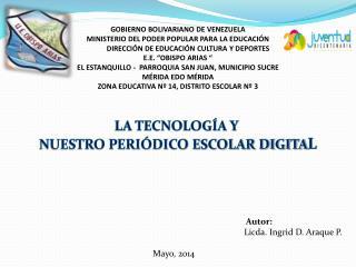 GOBIERNO BOLIVARIANO DE VENEZUELA MINISTERIO DEL PODER POPULAR PARA LA EDUCACIÓN