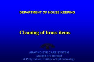 DEPARTMENT OF HOUSE KEEPING