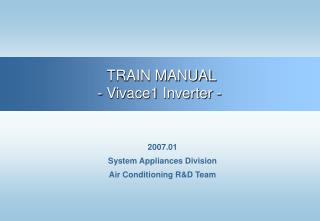 2007.01 System Appliances Division Air Conditioning R&D Team