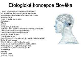 Etologické koncepce člověka