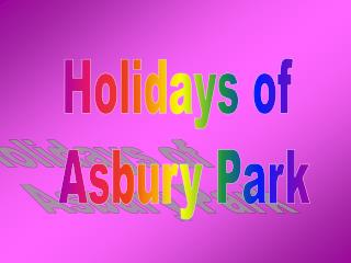 Holidays of  Asbury Park