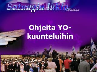 Tervetuloa  Sotungin lukion  abi-infoon 10.2.2006