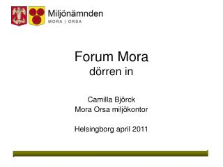 Forum Mora dörren in
