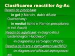 Clasificarea reactiilor Ag-Ac