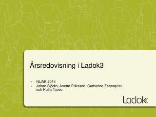 Årsredovisning i Ladok3