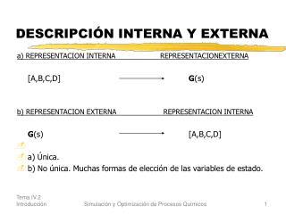 DESCRIPCIÓN INTERNA Y EXTERNA