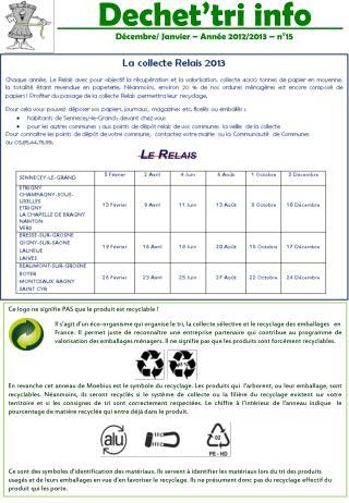 Décembre/ Janvier – Année 2012/2013 – n°15