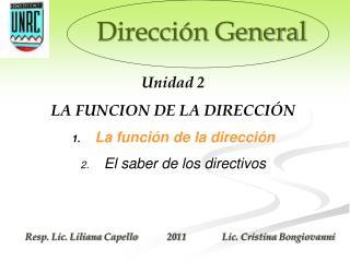 Direcci�n General