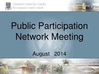 Public Participation Network Meeting