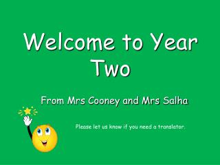 Welcome to Year Two