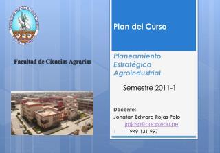 Planeamiento  Estratégico Agroindustrial