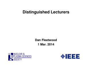 Distinguished Lecturers