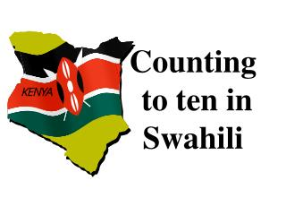 Counting  to ten in  Swahili