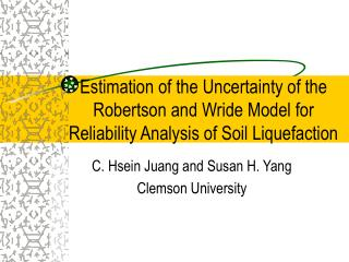 Estimation of the Uncertainty of the Robertson and Wride Model for Reliability Analysis of Soil Liquefaction