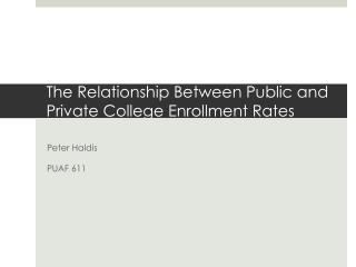 The Relationship Between Public and Private College Enrollment Rates