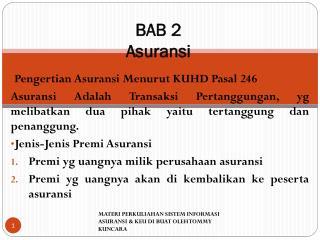 BAB 2 Asuransi