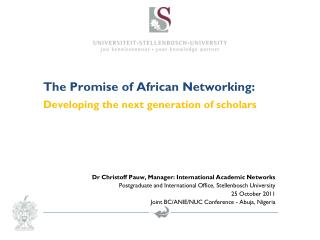 The Promise of African Networking: Developing the next generation of scholars