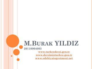 M.Burak  YILDIZ 20110904003