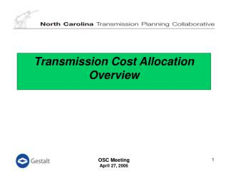 Transmission Cost Allocation Overview