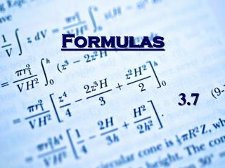 Formulas     3.7