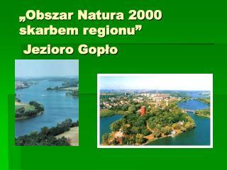"""Obszar Natura 2000 skarbem regionu""  Jezioro Gopło"