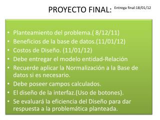 PROYECTO FINAL: